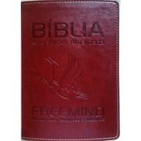Bíblia King James Atualizada Freemind capa vinho