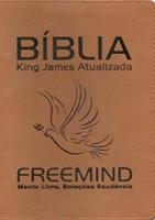Bíblia King James Atualizada Freemind capa castanha