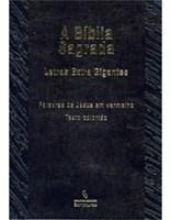 Bíblia Sagrada Letras Extra Gigante Palavras de Jesus em Vermelho - Texto Colorido