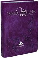 Bíblia da Mulher, capa em couro sintético, violeta nobre