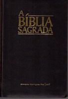 Bíblia ACF capa flexível preta e beiras brancas