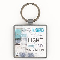 Porta-chaves metal - The Lord is my light and my salvation
