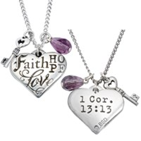 Colar Faith Hope Love