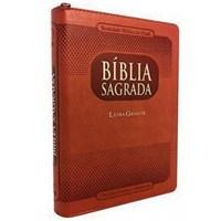 Bíblia Sagrada com letra gigante e fecho