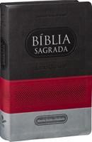Bíblia Sagrada com letra gigante e capa tricolor