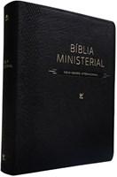 Bíblia Ministerial com índice digital e capa preta