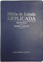 Bíblia de estudo explicada com dicionário e harpa cristã