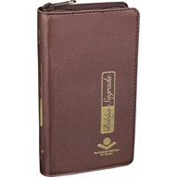 Bíblia Sagrada carteira com capa castanha