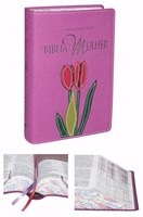 Bíblia da mulher média, capa legno orquídia