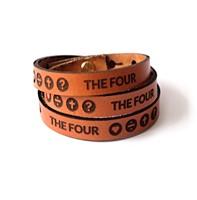 Pulseira The Four em couro
