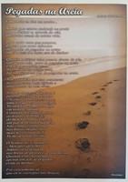 Poster pegadas na areia