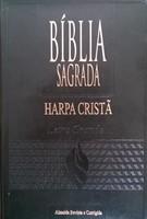 Bíblia sagrada com harpa cristã letra grande