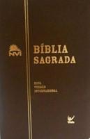 Bíblia sagada NVI capa flexível castanha