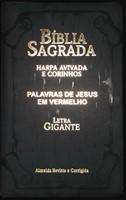 Bíblia Sagrada com Letra gigante, Harpa Avivada e Corinhos e Palavras de Jesus em vermelho