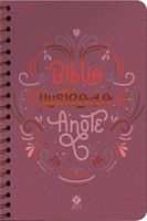 Bíblia ilustrada Anote capa rosa brilhante