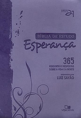 Bíblia de Estudo Esperança - capa lilás