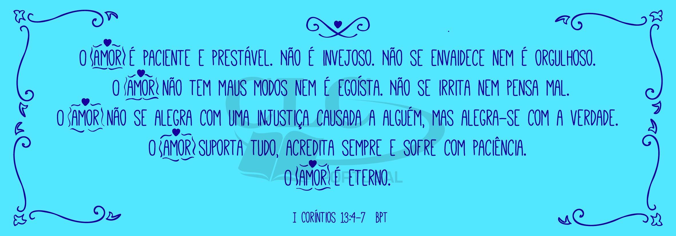 Marcador 1 Coríntios 13:4-7