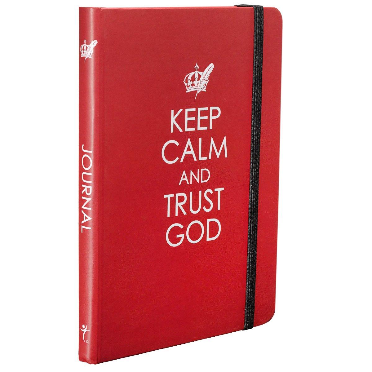 Bloco de notas Keep Calm and Trust God