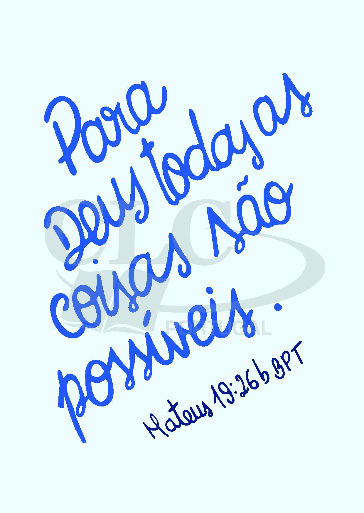 Postal Mateus 19:26b