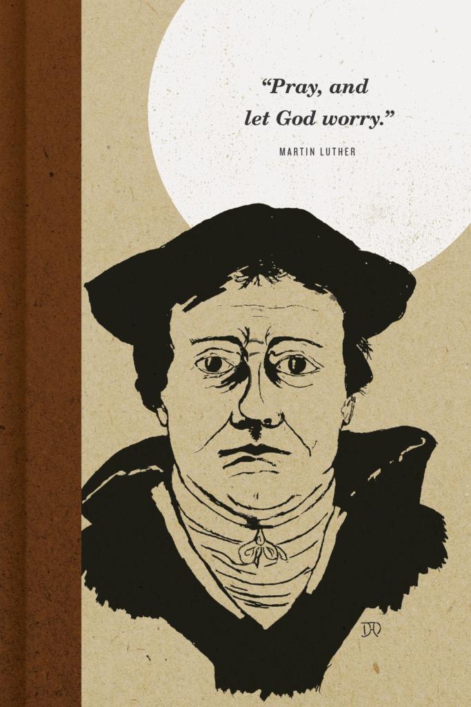 Bloco de notas Martin Luther